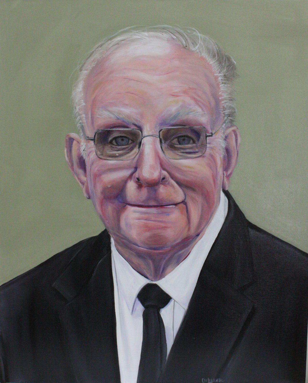 Fr Noel Kierce painting by Di Leeder cropped