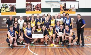 Health and PE week CLC WFC Netball Match Cheque Presentation